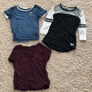 three shirts